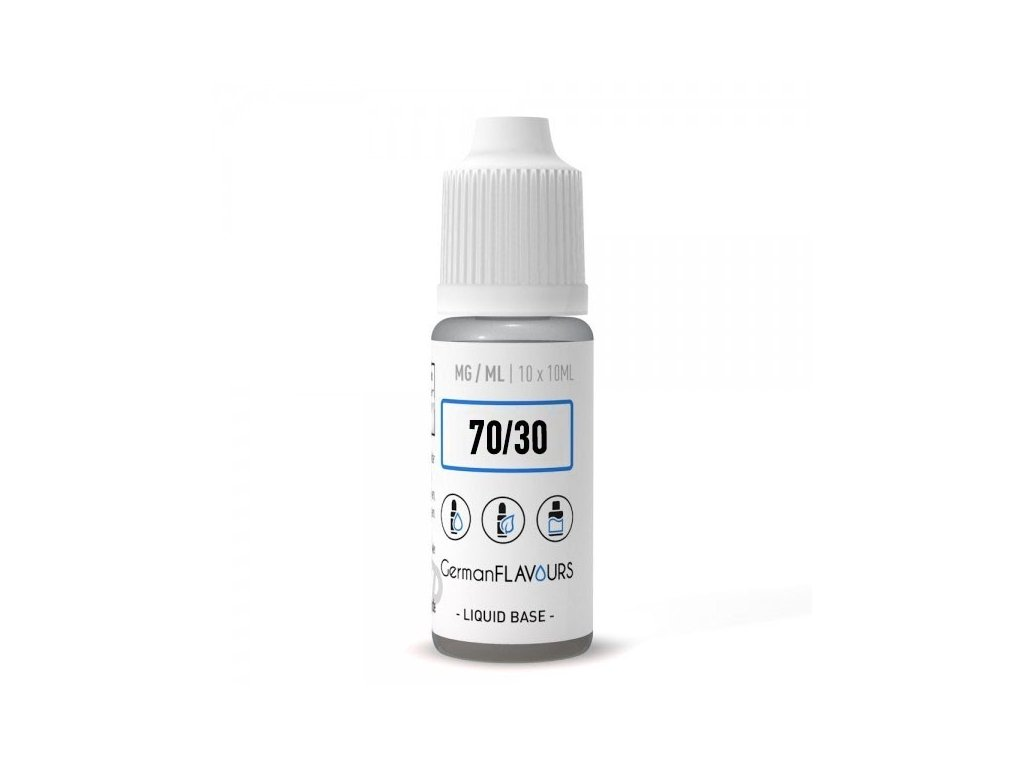 Báze 70/30 (VG 70% / PG 30%) GermanFlavours 6mg 100ml/10x10ml