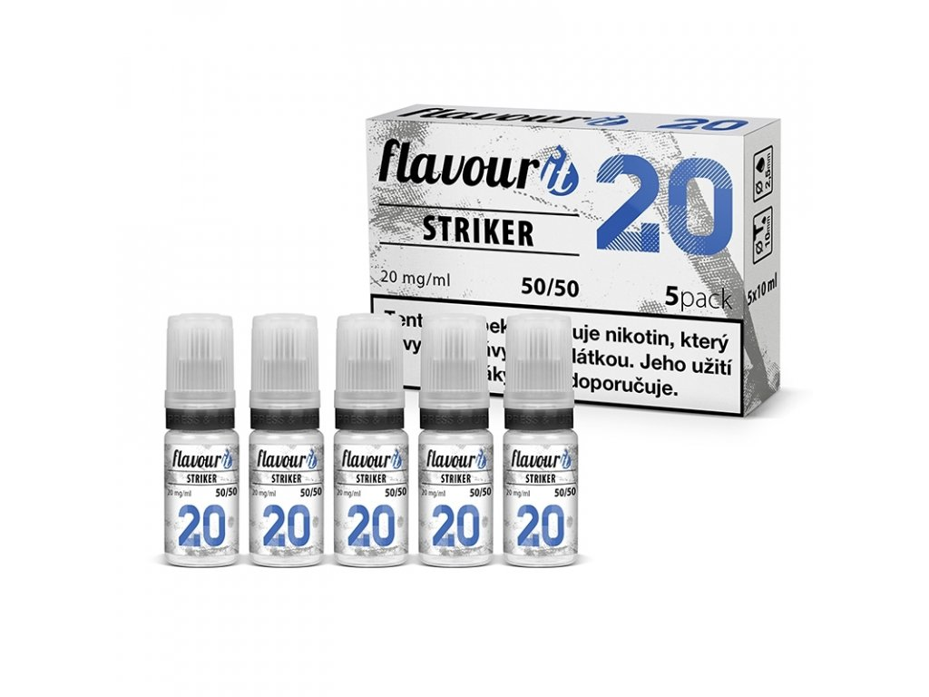 Flavourit Striker 50/50 20mg booster 5x10ml