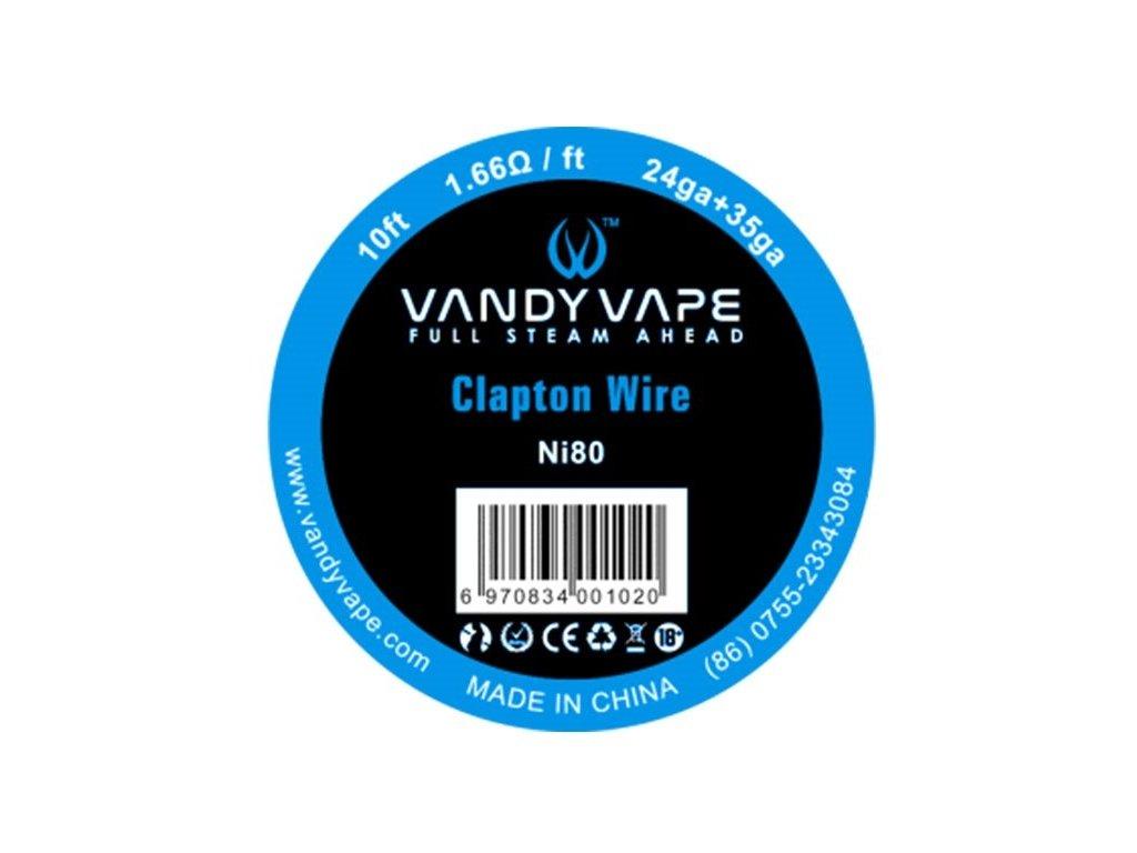 Vandy Vape Clapton Ni80 odporový drát 24GA+35GA 3m