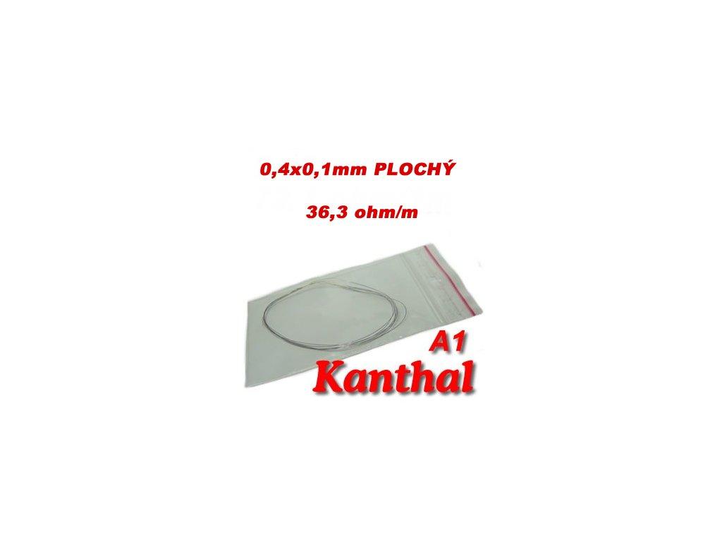 Odporový drát Kanthal A1 Plochý 0,4x0,1mm 36,3ohmu