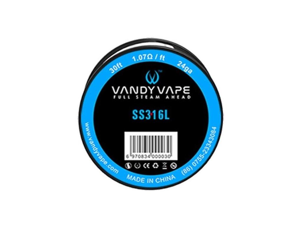 Vandy Vape SS316 odporový drát 24GA 9m