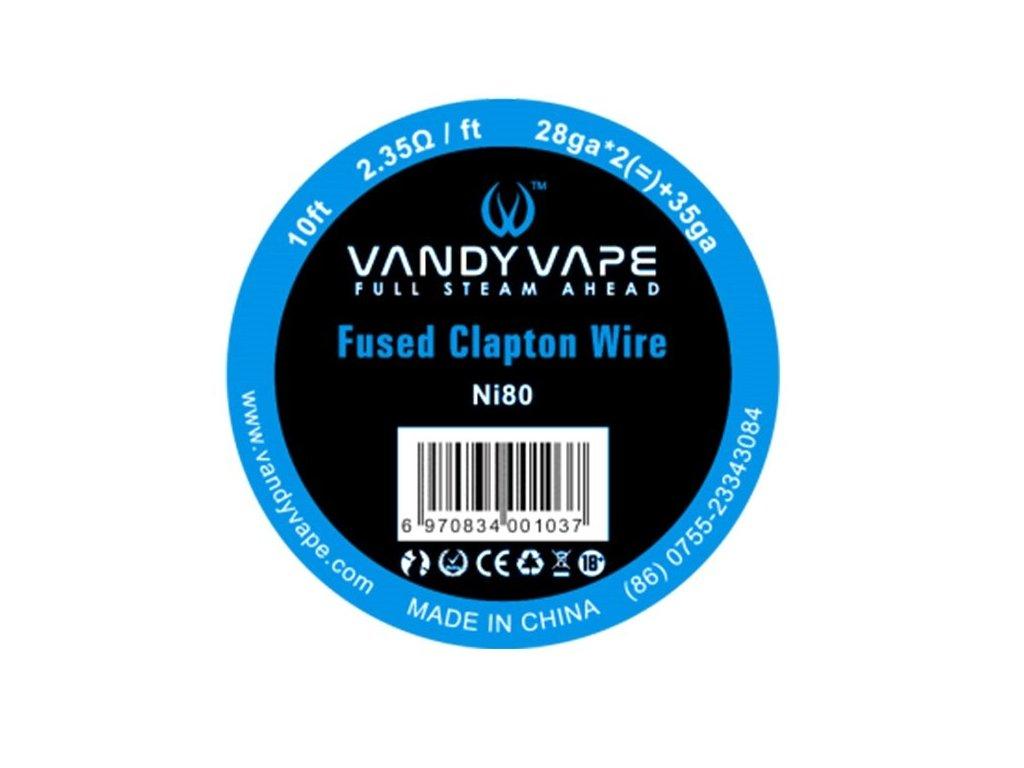 Vandy Vape Fused Clapton Ni80 odporový drát 26GA*2(=)+35GA 3m