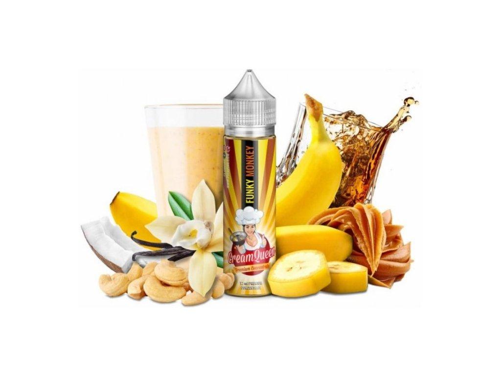 PJ Empire - Shake & Vape - Cream Queen Funky Monkey 20ml (Bánán, Kešu ořech, Kokos, Nugát, Milkshake)