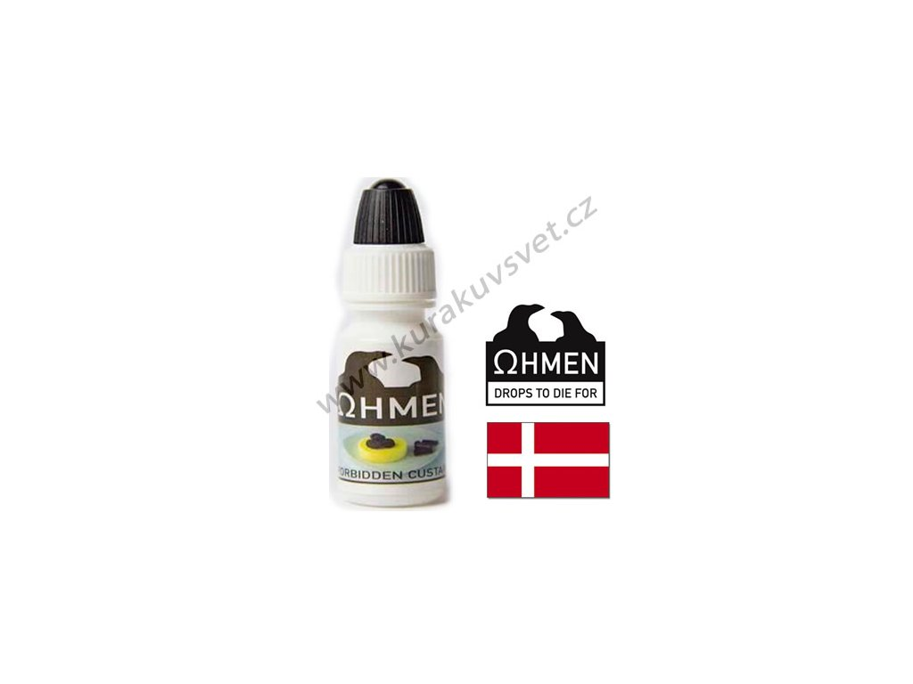 Ohmen Forbidden Custard (Pudink s lékořicí a ostružinou) aroma 10ml