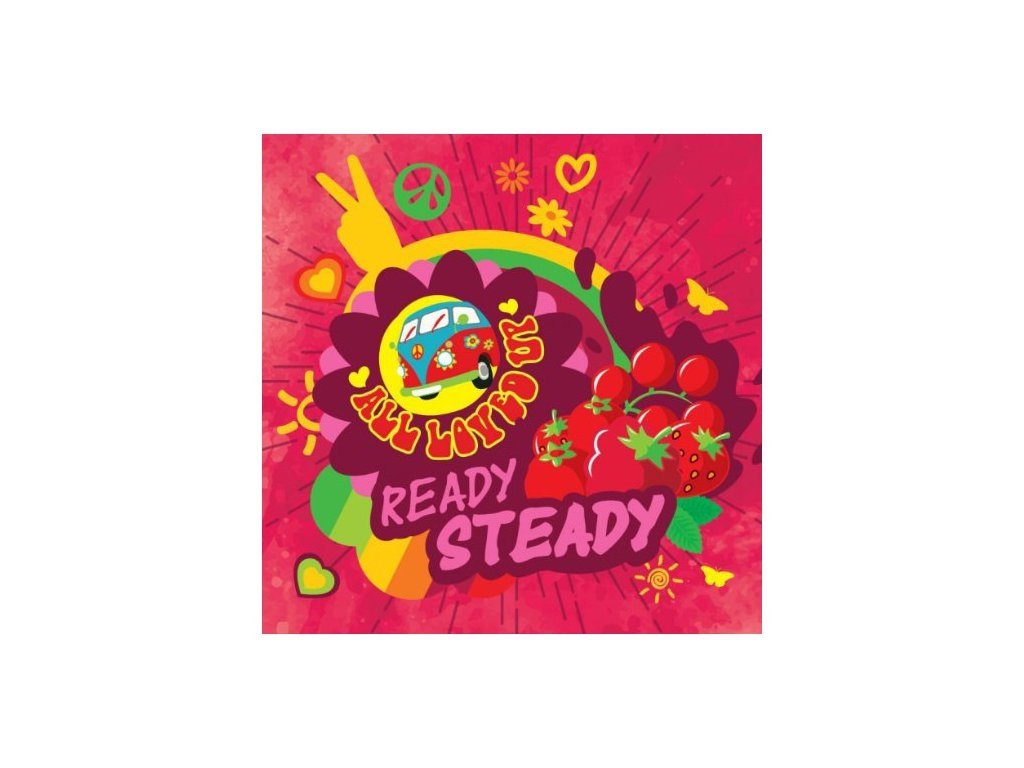 Big Mouth - All Loved Up - Ready Steady (Jahoda, Třešeň, Černý rybíz, Lékořice, Menthol) Aroma
