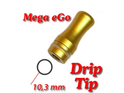 Drip tip Mega ego-A hliník zlatý