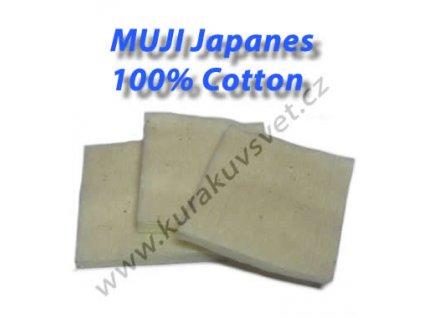 MUJI Japanes 100% Cotton (vata) 3ks