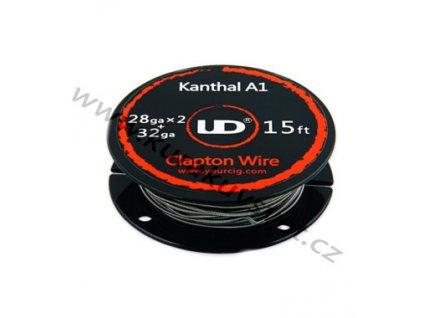 Clapton drát Kanthal A1/Kanthal A1 - 0.2mm + 0.3mm x 2mm - 4,6m