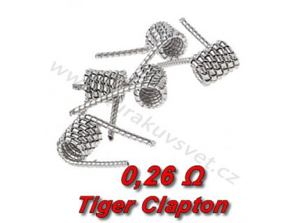 5ks Tiger Clapton spirálky 316 0.2x0,8mm 0,26Ω