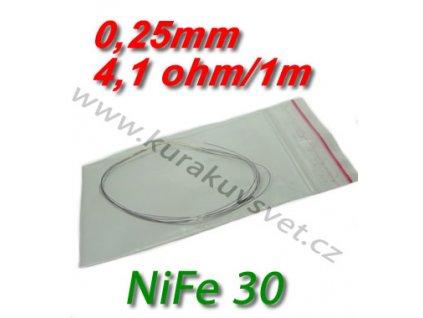 Odporový drát NiFe30 0,25mm 4,1ohmu