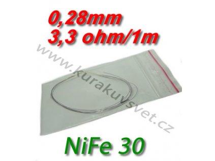 Odporový drát NiFe30 0,28mm 3,3ohmu