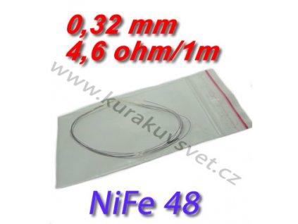 Odporový drát NiFe48 0,32mm 4,6ohmu