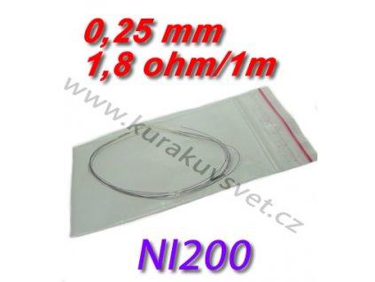 Odporový drát NI200 0,25mm 1,8ohmu