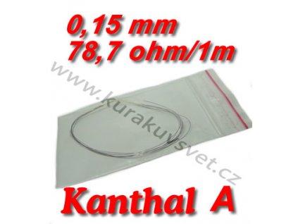 Odporový drát Kanthal A 0,15mm 78,7ohmu