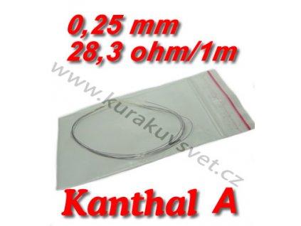 Odporový drát Kanthal A 0,25mm 28,3ohmu