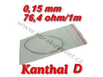 Odporový drát Kanthal D 0,15mm 76,4ohmu