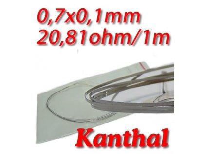 Odporový drát Kanthal 0,7x0,1mm 20,81ohmu,Plochý