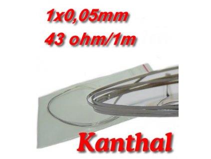 Odporový drát Kanthal 1x0,05mm 43ohmu Plochý