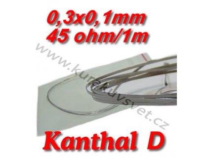0,3x0,1mm odporový drát Kanthal D 45ohmu