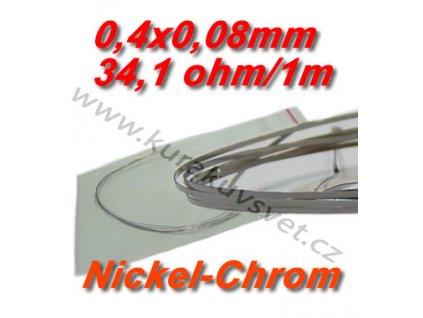 0,4x0,08mm odporový drát Nickel-Chrom 34,1ohmu