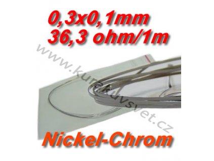 0,3x0,1mm odporový drát Nickel-Chrom 36,3ohmu