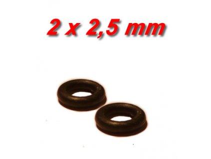 """2 ks """"O"""" kroužek 2x2,5mm"""