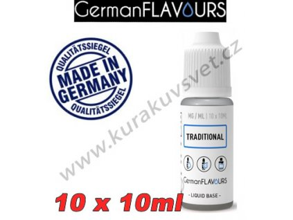 GermanFlavours báze Traditional 6mg 100ml/10x10ml