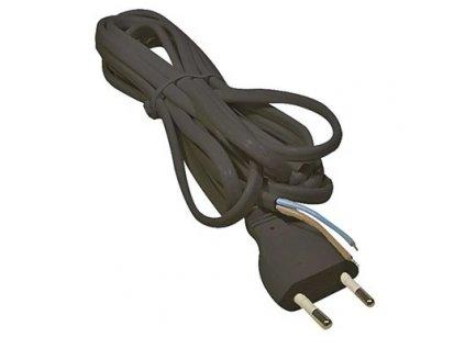 Flexo kabel (šňůra) PVC 2x0,75 mm, 2m černá