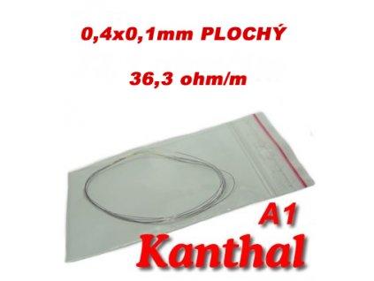 Odporový drát Kanthal A1 0,4x0,1mm 36,3ohmu, Plochý