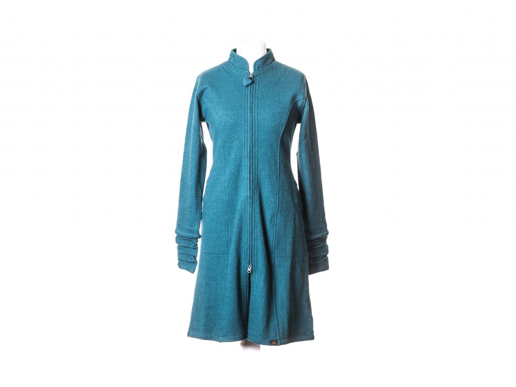 Polodlouhý kabát Minerva se stojáčkem merino