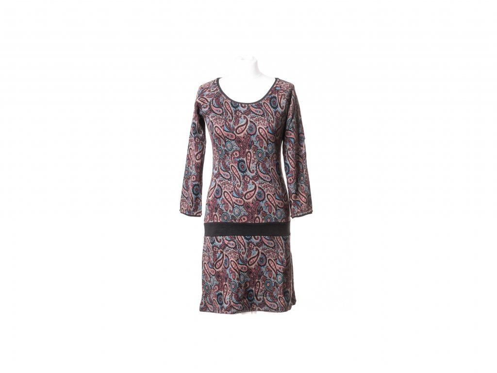 Krátké šaty Hébe s dlouhým rukávem