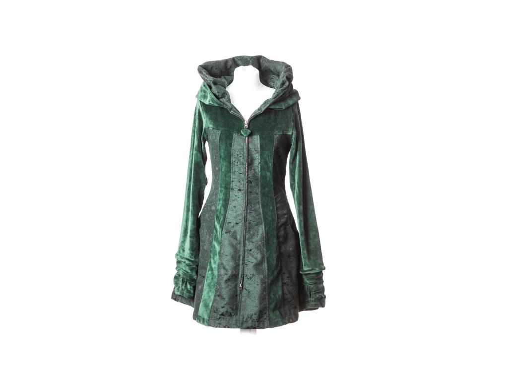 Krátký kabát Niké se širokou kapucou (zip,pruhy)