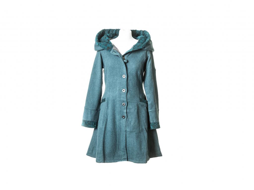 Polodlouhý kabát Aurora, petrolejová