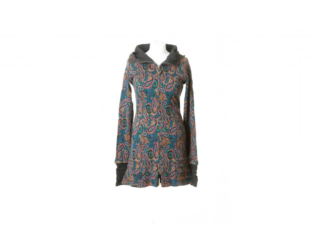 Kabátek na zip vzor paisley