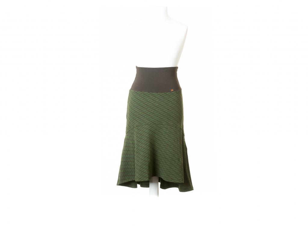Elastická sukně károvaná