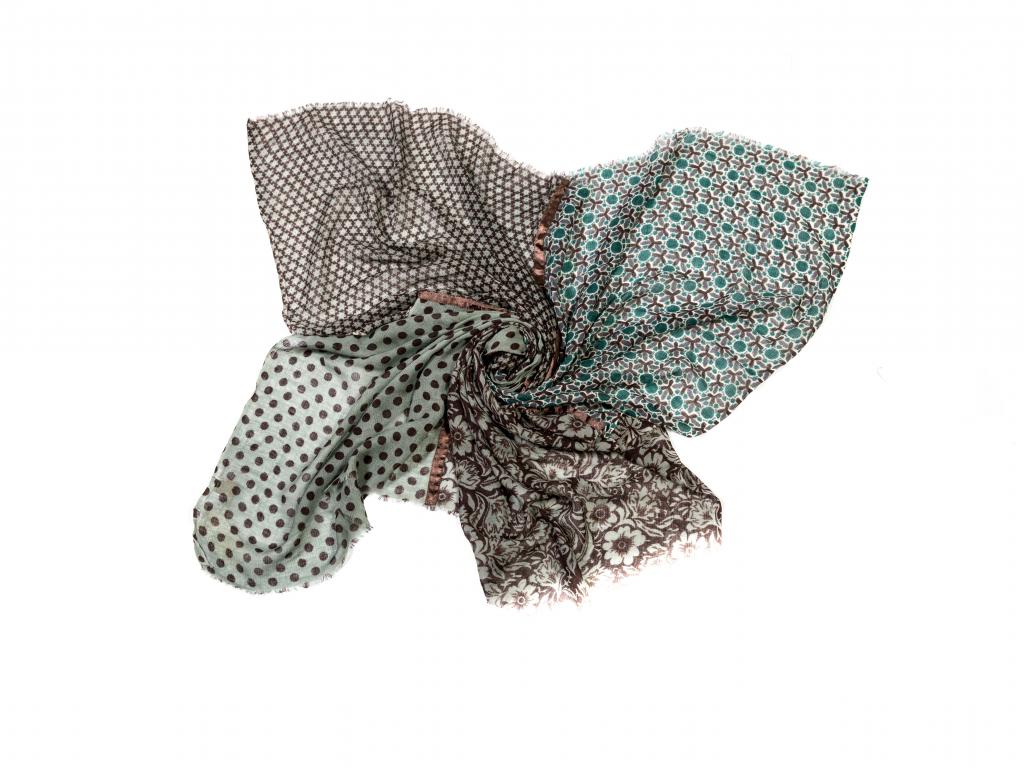 Vlněný šál patchwork