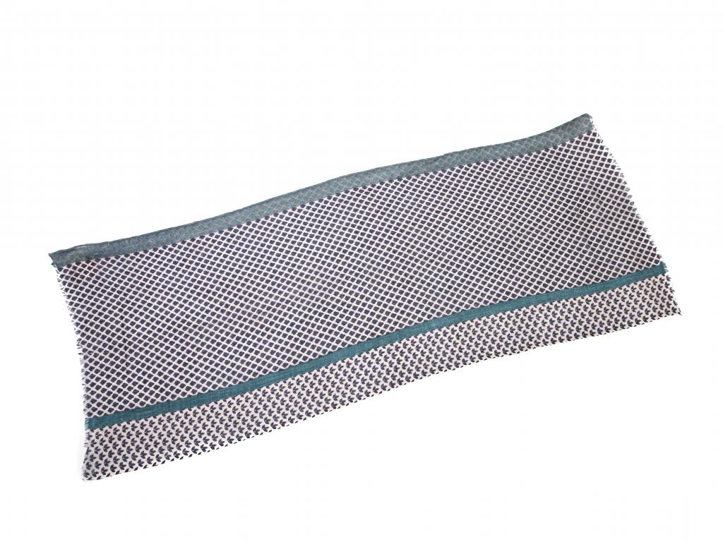 Vlněný šál šedý s kosočtverci