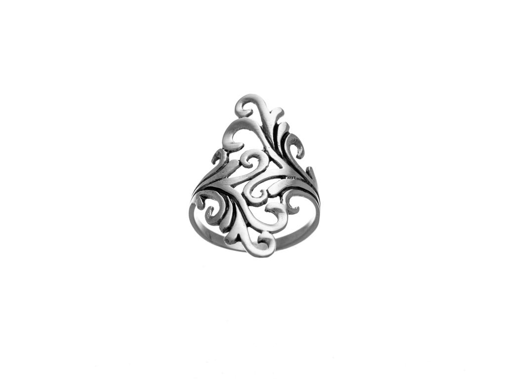 Stříbrný prsten ornament