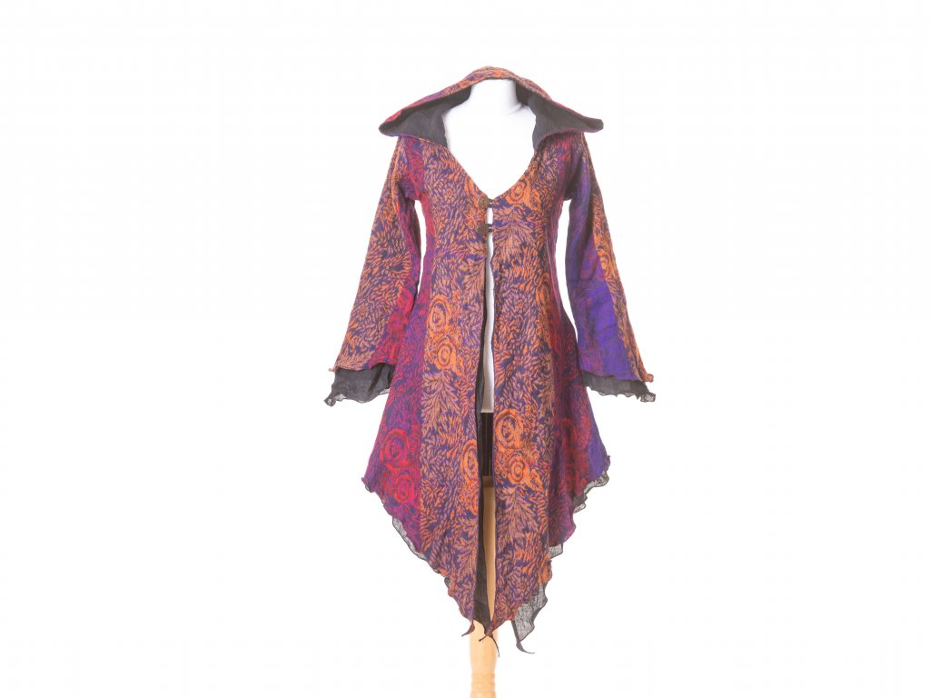 Elfí kabátek, fialovo-oranžový