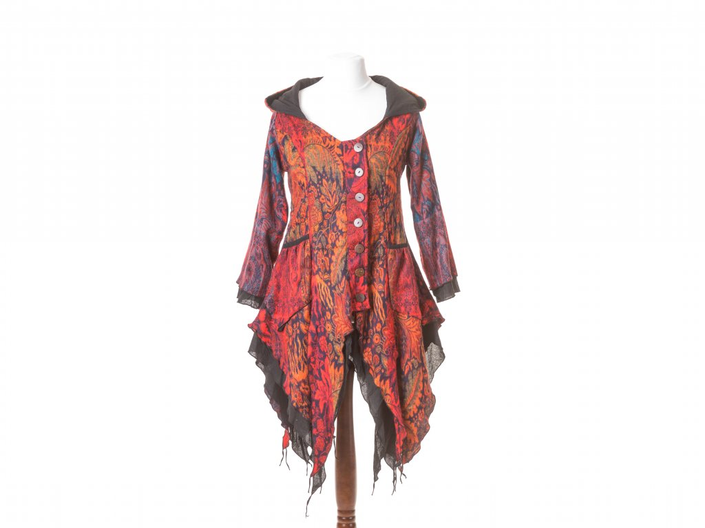 kabátek Wicca, hnědo-oranžový