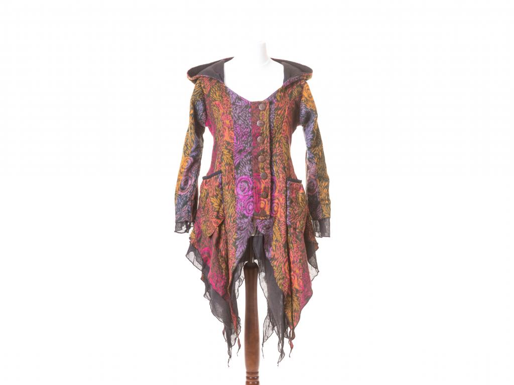 kabátek Wicca, fialovo-oranžový