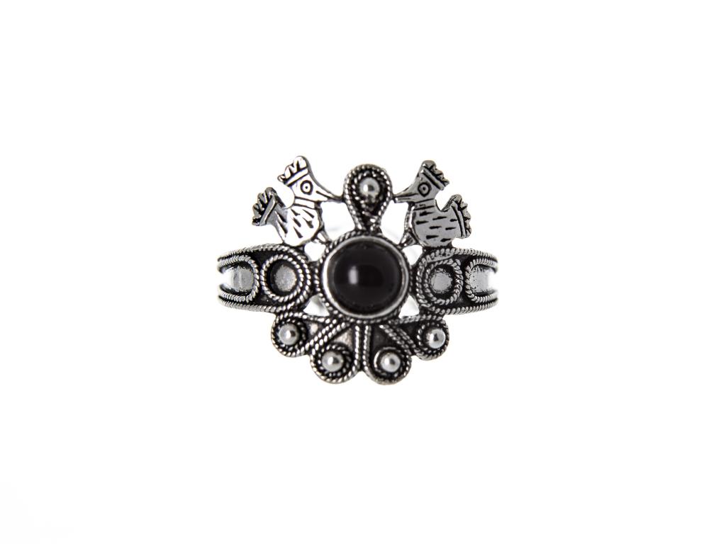 Stříbrný prstýnek Puzones, 15mmx15mm