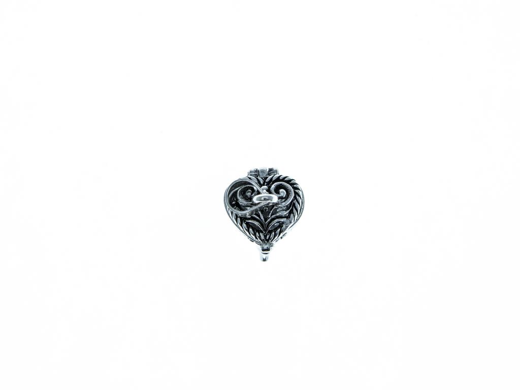 Stříbrný přívěšek srdce otevírací