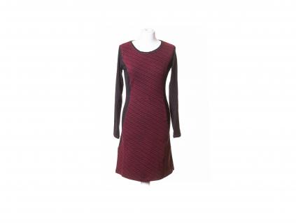 Šaty Apaté s dlouhým rukávem se síťovým vzorem