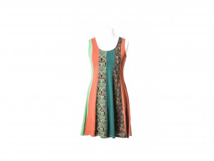 Krátké šaty bez rukávů (podzimní barvy)