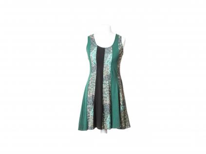 Krátké šaty bez rukávů (motiv páva)