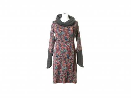 Krátké šaty Diana paisley s širokým rolákem (tunika)
