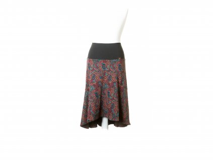 Elastická sukně paisley