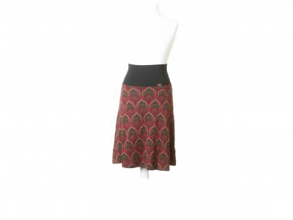 Elastická sukně vzor listu