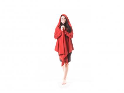 Zavinovací kabátek Kora s kapucou